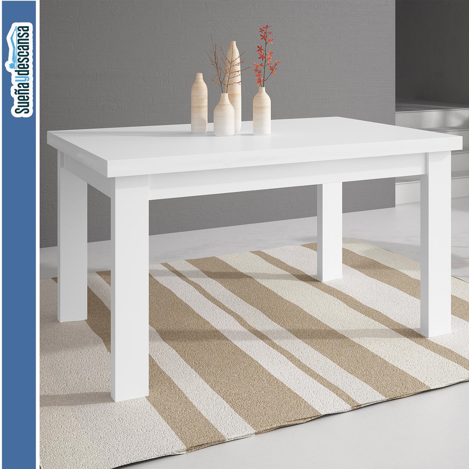 Mesa Comedor Extensible Blanca - Sueña y Descansa