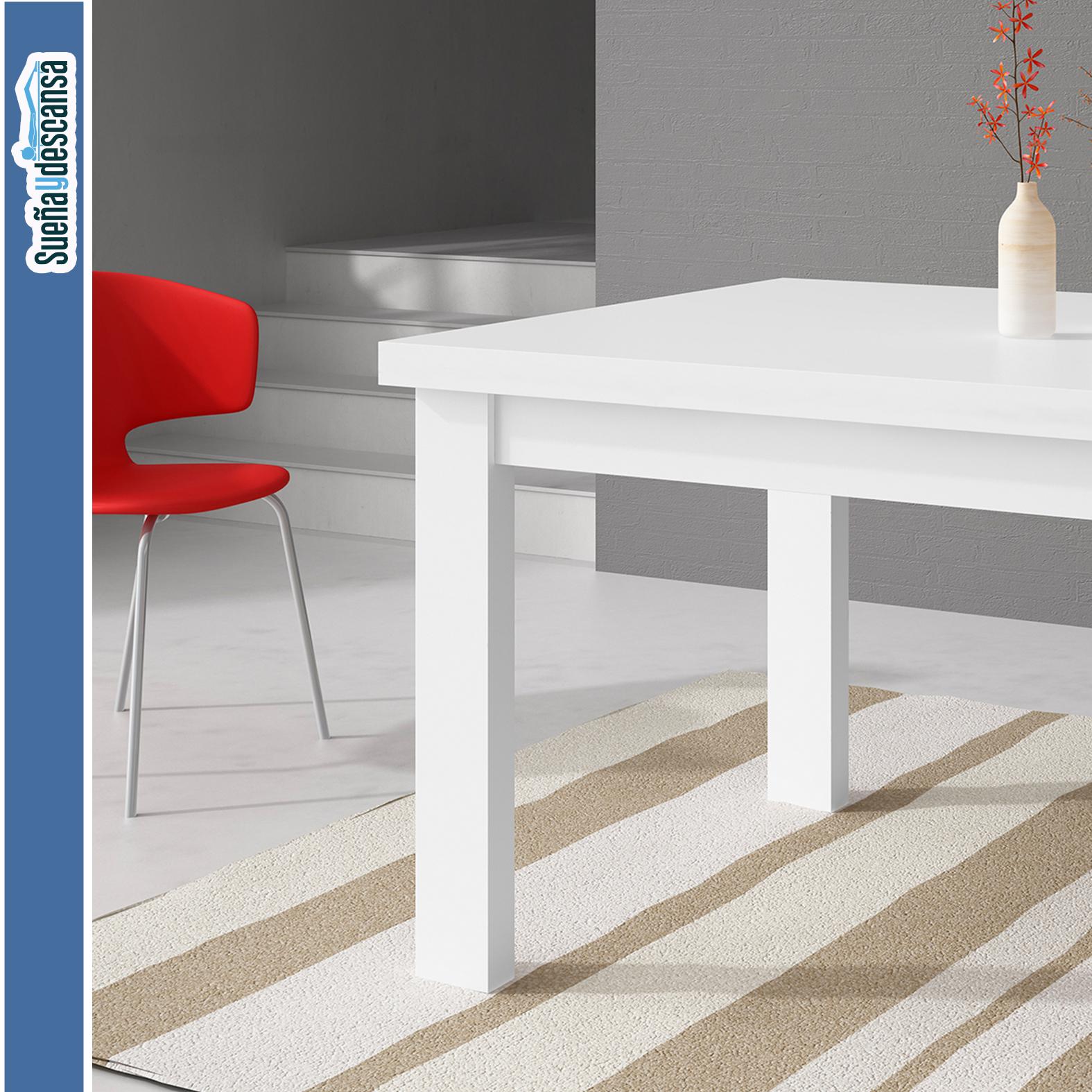 Mesa Comedor Extensible Blanca – Sueña y Descansa