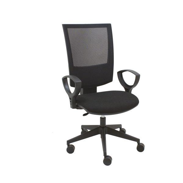 sillón director negro