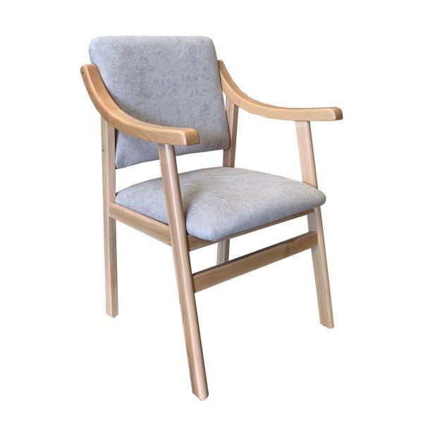 sillón con brazos haya beis